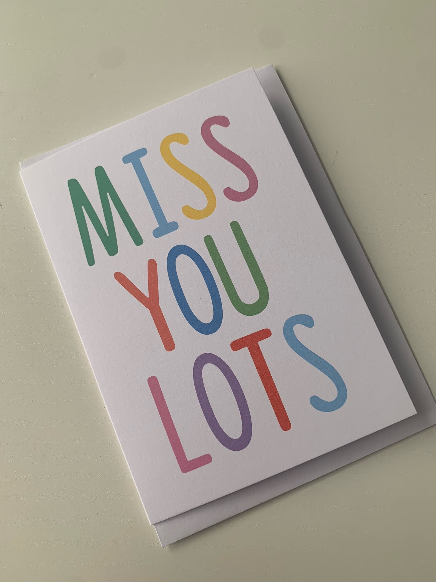 Miss You Lots Card