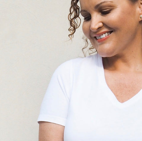 Kirsten Perfect White Tee from our Sprinkling Kindness Project collaboration collection