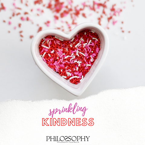 Philosophy Australia Sprinkling Kindness Project collaboration collection