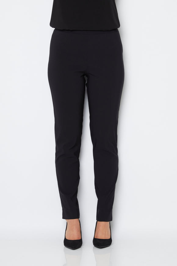 Narrow Full Length Bengaline Pants in Black