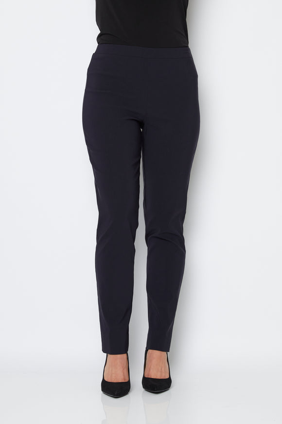 Narrow Full Length Bengaline Pants in Ink Navy