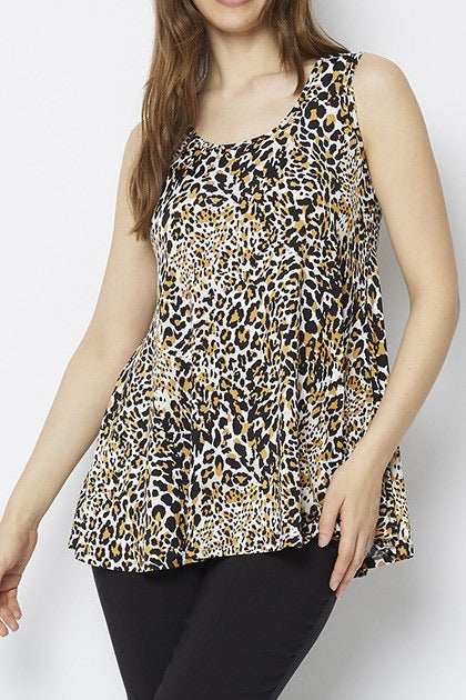 Lulu Swing Tunic Top in Midas