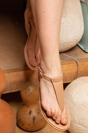 Frida sandals - biscuit