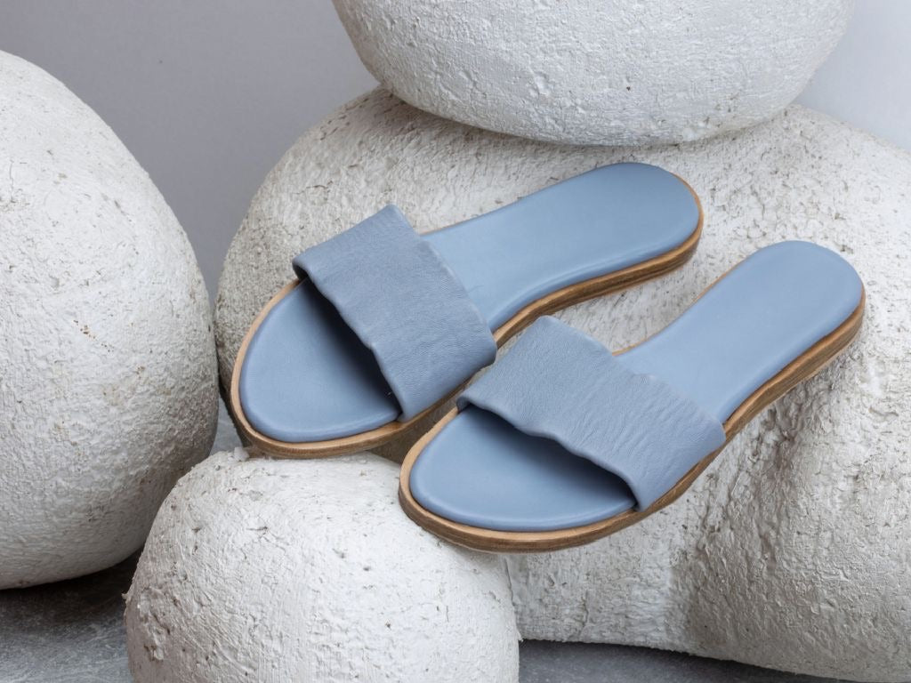 Leonie slides - blue grey