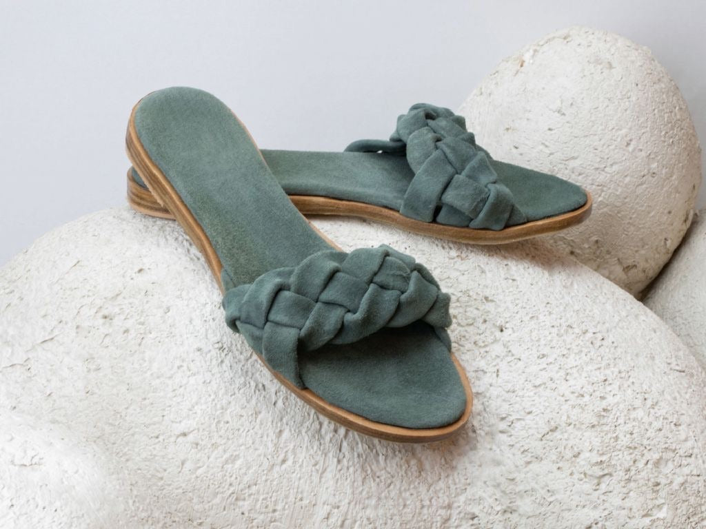Sylvia slides - cypress green
