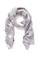 Load image into Gallery viewer, Gray Reversible Star Scarf