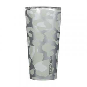 Snow Leopard Insulated Travel Tumbler