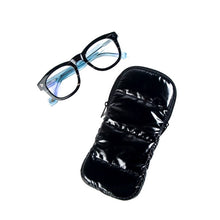 Load image into Gallery viewer, Black Puffer Eyeglass Case