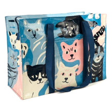 Load image into Gallery viewer, Recycled Cat Zipper Tote