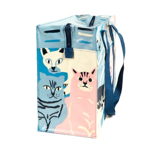 Recycled Cat Zipper Tote