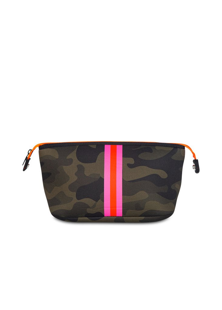 Camo Cosmetic Case – Pink Stripe
