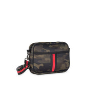 Load image into Gallery viewer, Camo Cross Body Purse – Red Stripe