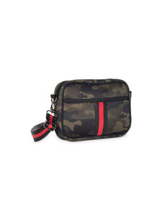 Camo Cross Body Purse – Red Stripe