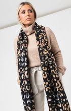 Load image into Gallery viewer, Leopard & Plaid Scarf