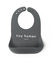 "Load image into Gallery viewer, ""Tiny Human"" Silicone Bib"