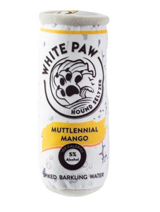 """White Paw"" Mango Seltzer Dog Toy"