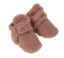Load image into Gallery viewer, Pink Sherpa Snap Bootie