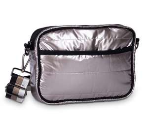 Metallic Champagne Puffer Purse
