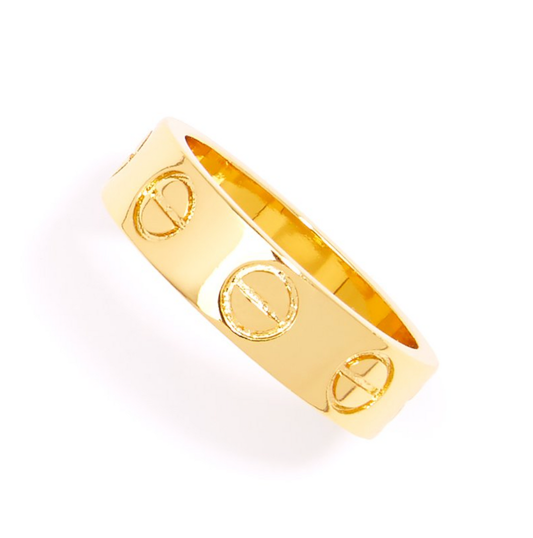 Gold Bolted Ring