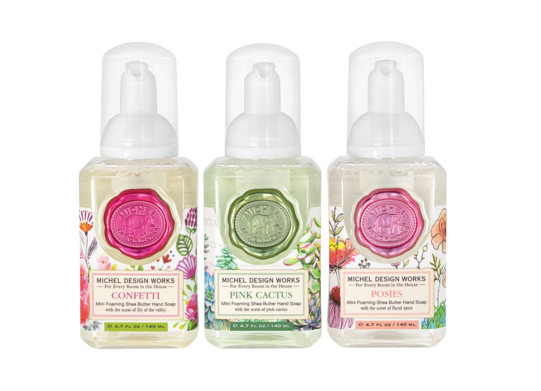 Mini Foaming Hand Soap Trio–Sweet Florals