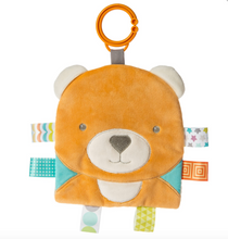 Load image into Gallery viewer, Reversible Frog & Bear Crinkle Taggie