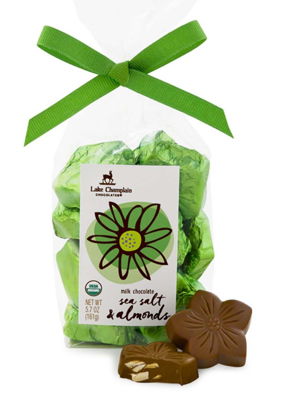 Organic Milk Chocolate Sea Salt & Almond Flowers