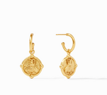 Load image into Gallery viewer, Bee Hoop & Charm Earrings
