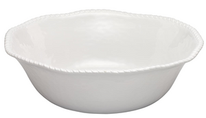 White Rope Melamine Serving Bowl