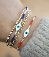 Load image into Gallery viewer, Turquoise Evil Eye Bracelet