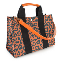 Load image into Gallery viewer, Leopard Canvas Tote Bag