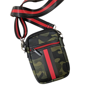Camo Mini Purse – Red Stripe