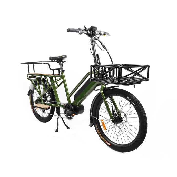 Got Cargo? Here's the ideal bike for city deliveries or as a 2-wheeled family truckster!