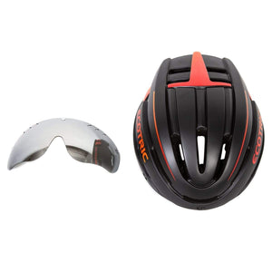 ECOTRIC, eBike Helmet with Silver-Coated Googles & Rear Light - electricbyke.com