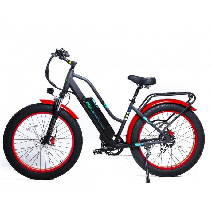 GREENBIKE ELECTRIC MOTION EM 26, Fat Tire Urban/Trail/Beach Cruiser - 750 Watt, 48V - electricbyke.com