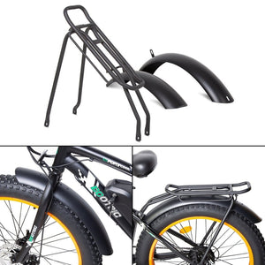 "ECOTRIC Rear Rack and Fenders for: Rocket and 26"" Fat Tire Beach/Snow Bike - electricbyke.com"