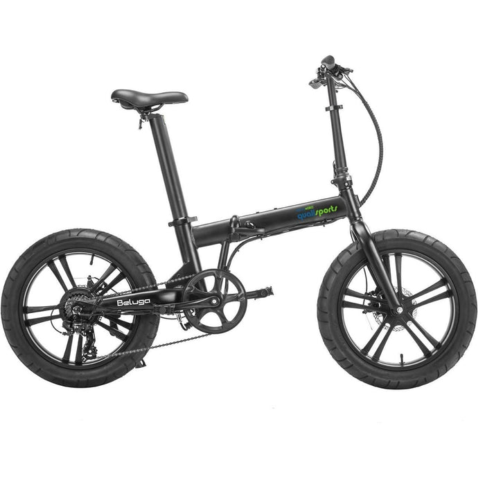 QUALISPORTS, BELUGA, Folding Fat Tire Mini Ebike - 500 Watt, 48V - electricbyke.com