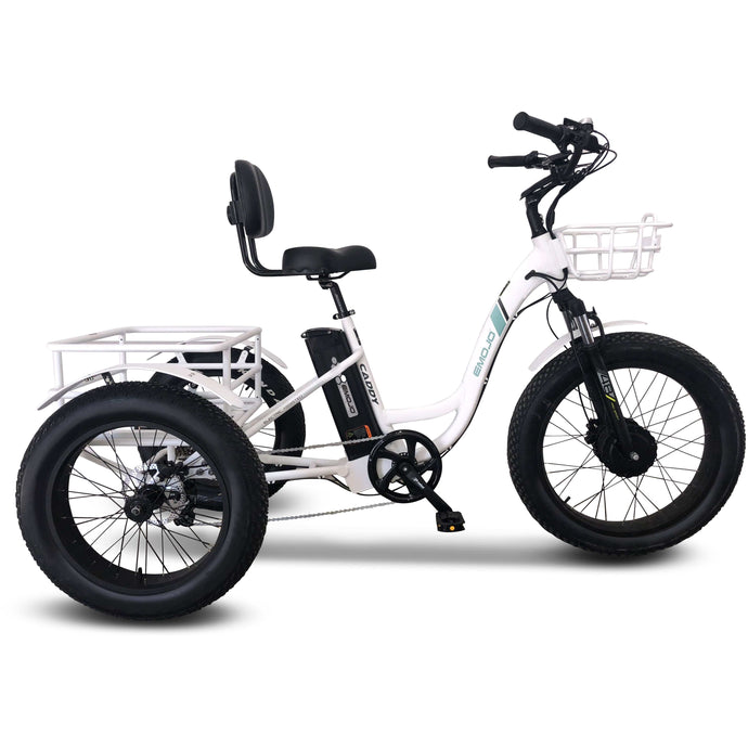 EMOJO, Electric Bike, CADDY PRO, Electric Fat Tire Tricycle - 500 Watt, 48 V - electricbyke.com