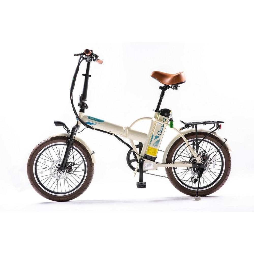GREENBIKE ELECTRIC MOTION Classic HS European Design, Folding E-Bike - 350 Watt, 36V - electricbyke.com