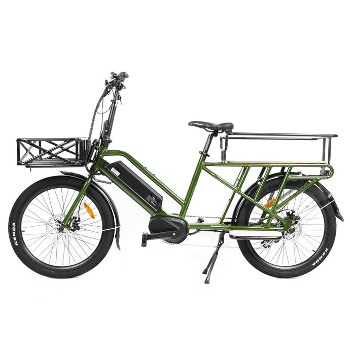 EUNORAU, 2020 G20 Electric, Mid-Drive, Long-Tail Cargo Bike, 24