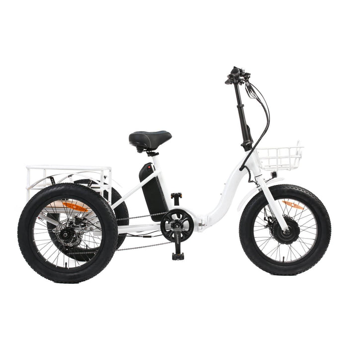 EUNORAU, Step-Thru Fat Tire Folding Electric Tricycle - 500 Watt, 48V - electricbyke.com