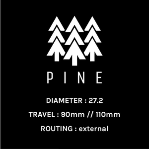 PINE DROPPER POST 27.2MM W/ PUGET MTB LEVER - with Installation at eBike Purchase - electricbyke.com