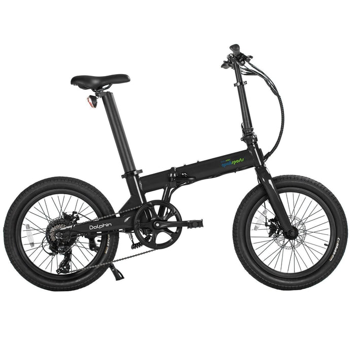 QUALISPORTS, DOLPHIN, Folding Mini Ebike - 350 Watt, 36V - electricbyke.com