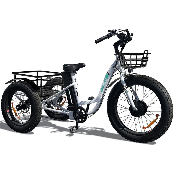 EMOJO, Electric Bike, CADDY, Electric Fat Tire Tricycle - 500 Watt, 48V - electricbyke.com
