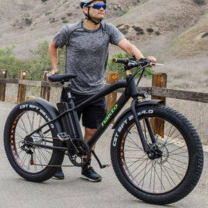 NAKTO Fat Tire Electric Cruiser - 300 Watt, 36V - electricbyke.com