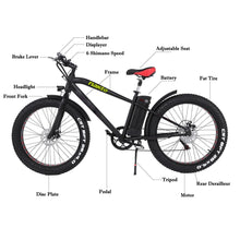 Load image into Gallery viewer, NAKTO Fat Tire Electric Cruiser - 300 Watt, 36V - electricbyke.com