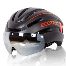 Load image into Gallery viewer, ECOTRIC, eBike Helmet with Silver-Coated Googles & Rear Light - electricbyke.com