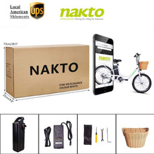 Load image into Gallery viewer, NAKTO Elegance, Electric City Cruiser - 250 Watt, 36V - electricbyke.com