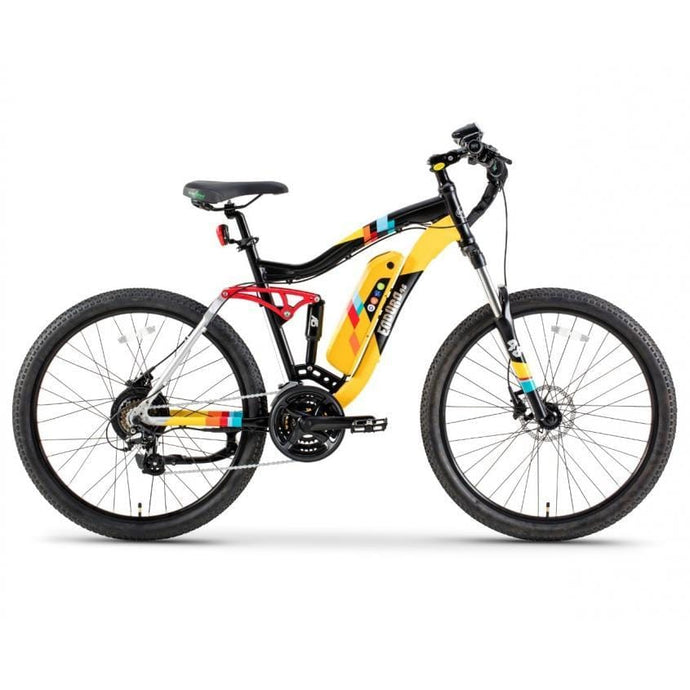 GREENBIKE ELECTRIC MOTION Enduro 48, Urban, Sport, Mountain eBike - 350 Watt, 48V - electricbyke.com