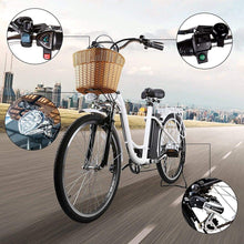"Load image into Gallery viewer, NAKTO Camel City Cruiser, Women's 26"" Electric Bicycle -  250 Watt, 36V - electricbyke.com"