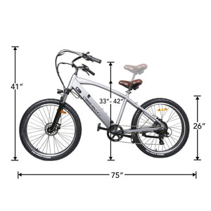 "NAKTO, Santa Monica, Easy Riding 26"" Cruiser - 500 Watt, 48V - electricbyke.com"